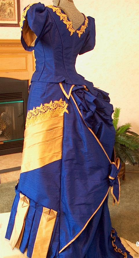 IMPERIAL BLUE AND GOLD BALL GOWN